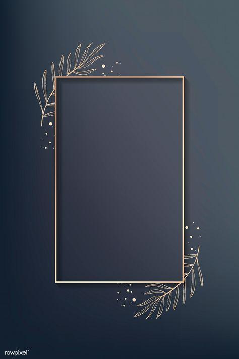 Rectangle gold leafy frame vector | premium image by rawpixel.com / wan #vector #vectoart #digitalpainting #digitalartist #garphicdesign #sketch #digitaldrawing #doodle #illustrator #digitalillustration #modernart #frame
