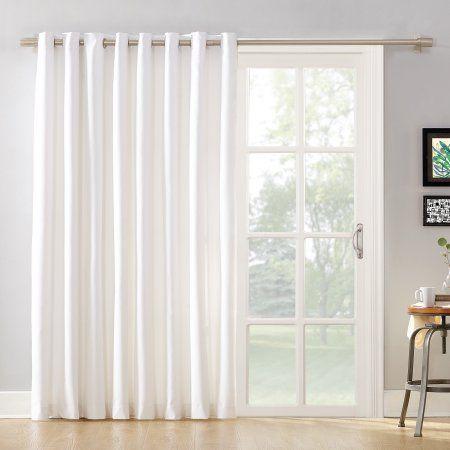 Mainstays Sliding Glass Door Thermal Lined Room Darkening Grommet Curtain Panel Walmart Com In 2020 Door Coverings Sliding Glass Door Curtains Glass Door Curtains