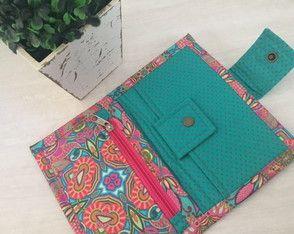 53528eb5c carteira-patchwork-porta-cartoes | Paint color | Costurar carteira ...
