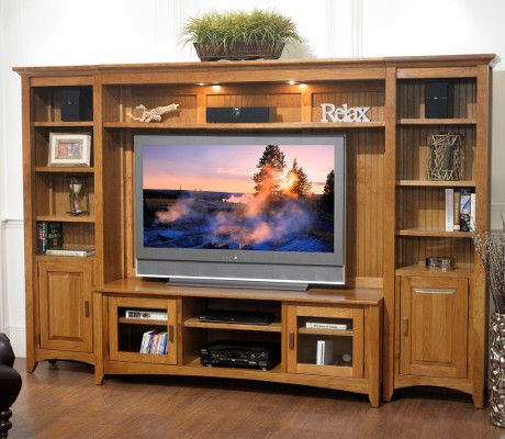 Yutzywood Highlands Home Entertainment Center In 2020 With Images