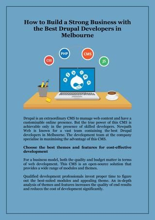 How To Build A Strong Business With The Best Drupal Developers In Melbourne Drupal Web Design Melbourne