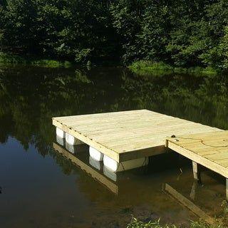 Floating Dock With Barrels Updated Floating Dock Floating Dock Plans Building A Dock