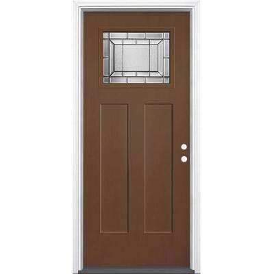 36 In X 80 In Everland Caramel Grain Right Hand Inswing Sequence 1 4 Lite Finished Fiberglass Prehung Front Fiberglass Door Fiberglass Front Door Front Door