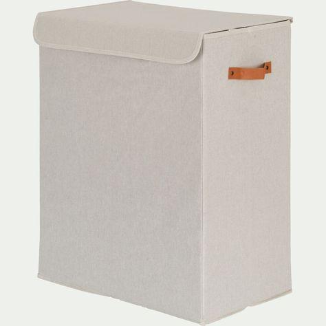 Panier A Linge Double Blanc H50cm Erro Accessoires De Salle De