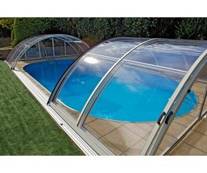 Retractable Swimming Pool Enclosure Low Line Welkin Pl011 Swimming Pool Enclosures Pool Enclosures Pool