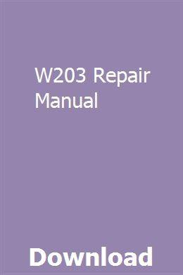 W203 Repair Manual Repair Manuals Manual Washer Repair