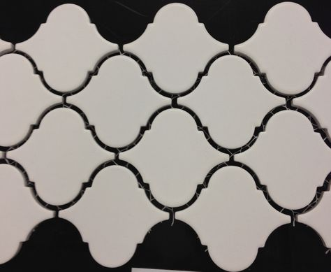 Floor. matte white, charcoal grout.
