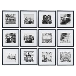 12pc 12 X 12 Matted To 8 X 8 Frame Set White Gallery Perfect Gallery Wall Frames Photo Wall Gallery Gallery Wall Kit