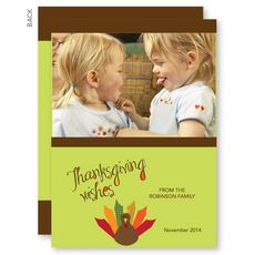 A Thanksgiving Wish Thanksgiving Photo Cards