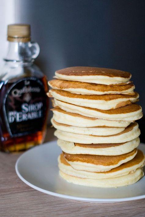 Pancakes Americains Recipe Recette Pancakes Pinterest