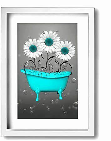 Aqua Bathroom Wall Decor Best Of Ale Art Modern Frame Bathroom Wall Aqua Gray In 2020 Bathroom Wall Decor Wall Decor Amazon Bath Wall Art