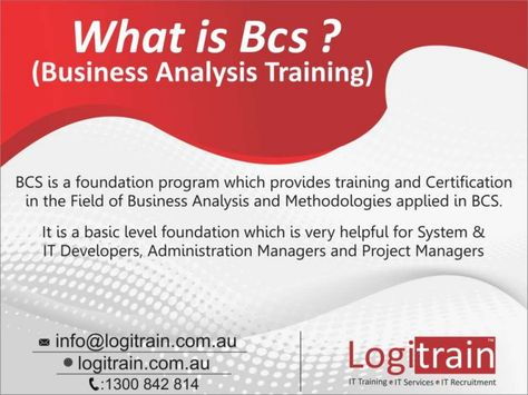 The BCS Business Analysis Training is for those individuals who - what is business analysis