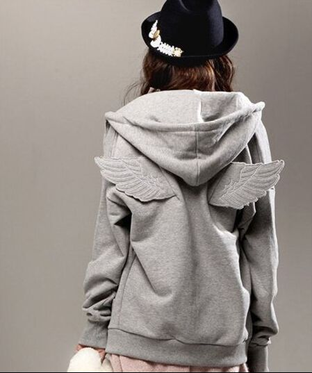 Angel Wings Hoodie Gray/Black One Size sold by Immortelle Art. Shop more products from Immortelle Art on Storenvy, the home of independent small businesses all over the world.