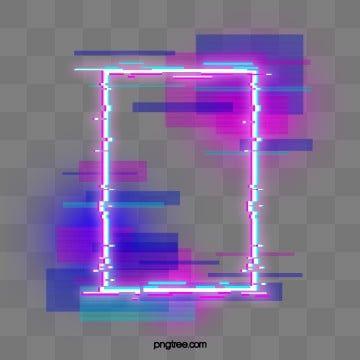 Borda Redonda De Neon Defeituoso Azul Roxo Holografico Circular Falha Imagem Png E Psd Para Download Gratuito Neon Png Neon Png Images