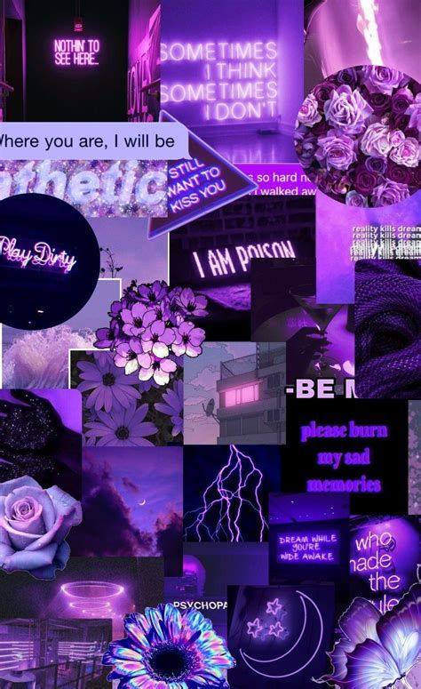 Blue Collage In 2020 Iphone Wallpaper Tumblr Aesthetic Purple Wallpaper Iphone Pretty Wallpaper Iphone Iphone Wallpaper Tumblr Aesthetic Purple and blue aesthetic wallpaper