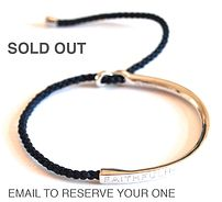 BABU Bedwell | BE Collection 'Faithfulness' bracelet. Sold out presumably on account of the colour, rather than the over-arching faith of the purchasers?