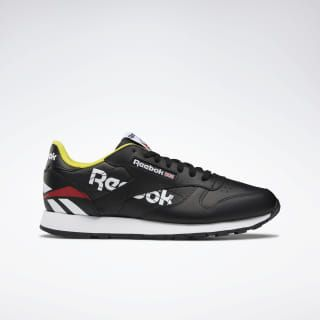 Classic Leather Ati 90s Black White Primal Red Eg5289 Reebok Classic Leather Black Classic Leather Retro Running Shoes