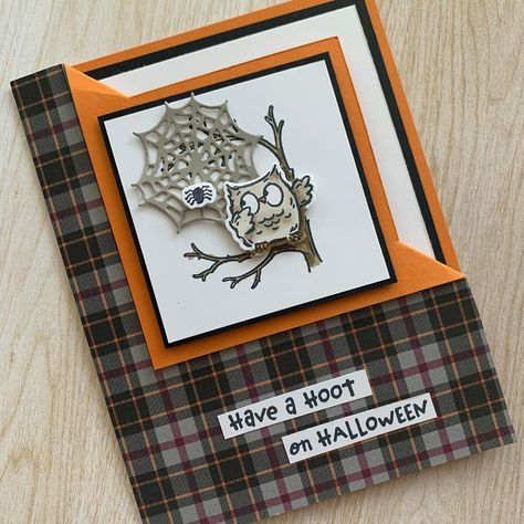 Flip Cards, Fun Fold Cards, 3d Cards, Folded Cards, Up Halloween, Halloween Projects, Halloween Cards, Owl Card, Stampin Up Catalog
