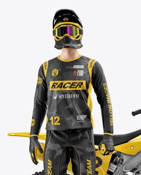 Download Motorcycle Jersey Mockup Clothing Mockup Motocross Racing Design Mockup Free