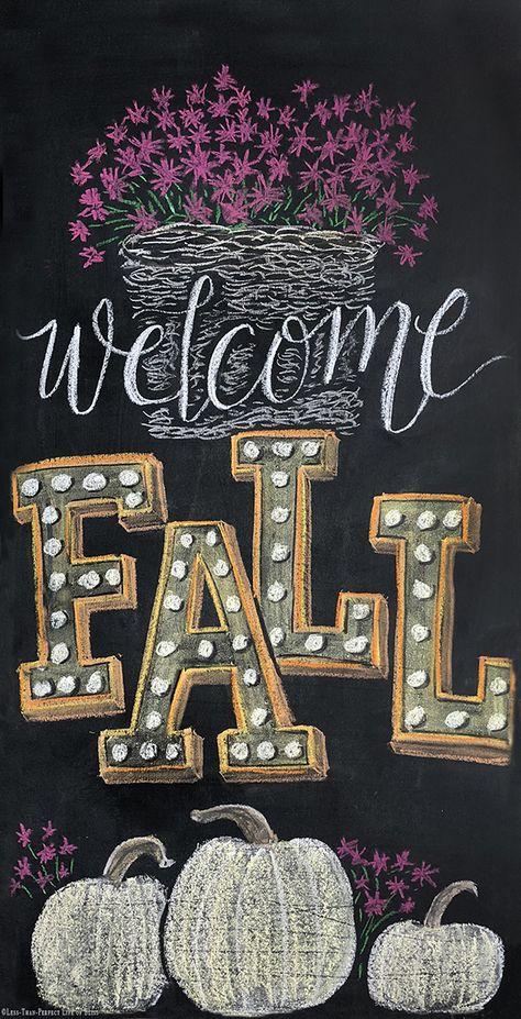 Hottest Photographs Chalkboard wall art Popular , New Fall Chalkboard Art Free Printable Fall Chalkboard Art, Chalkboard Doodles, Chalkboard Art Quotes, Blackboard Art, Chalkboard Writing, Kitchen Chalkboard, Chalkboard Drawings, Chalkboard Lettering, Chalkboard Designs