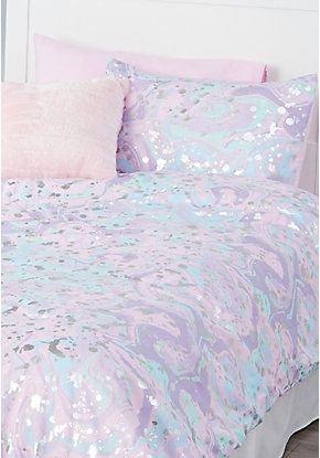Marble 5 Piece Bed In A Bag Twin Size Tween Girl Bedroom Bed