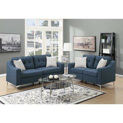 Orren Ellis Auteri 2 Piece Living Room Set Living Room Sets Sofa And Loveseat Set Couches Living Room