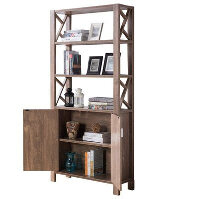 Union Rustic Ryals Spacious Wooden Etagere Bookcase Bookcase