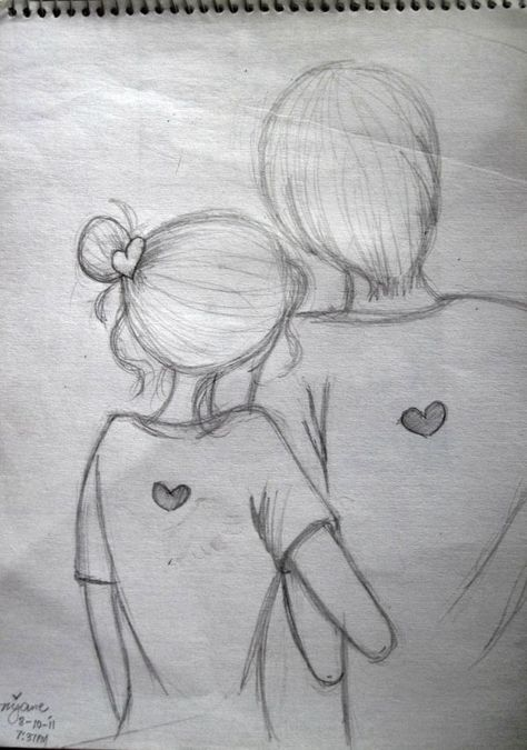 easy pencil sketch of couples - Google Search                                                                                                                                                                                 More -  - #Couple