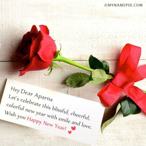 The Name Dear Aparna Is Generated On Happy New Year Wishes For Lover With Name Image Downlo New Year Wishes Happy New Year 2017 Wishes Happy New Year Wishes