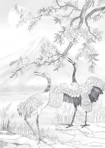 Click To See Printable Version Of Crane Coloring Page Bird