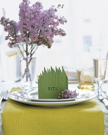 grassy place card