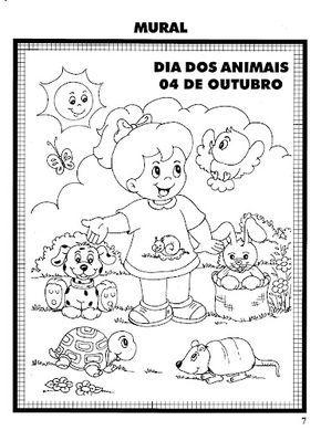 Espaco Educar 14 De Marco E Dia Dos Animais Desenhos Para