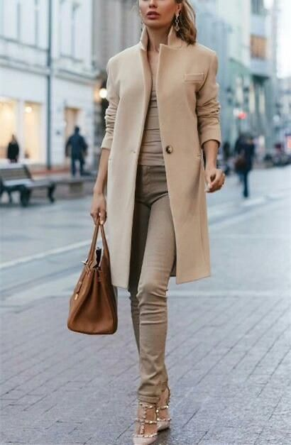 Product Autumn and winter fashion pure color coat Brand Name cojolly SKU Gender Woman Style Elegant/Sexy/Fashion Type Jackets & Coats Material Polyester Decoration Pure color Please Note:All dimensions are measured manually with a deviatio