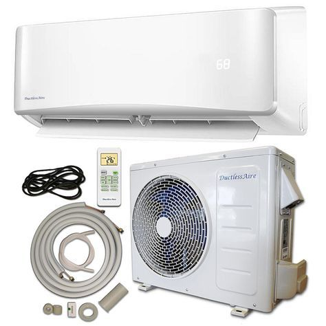 Energy Star 24 000 Btu 2 Ton Ductless Mini Split Air Conditioner And Heat Pump Variable Speed Inverter 220v 60hz Whit Ductless Ductless Mini Split Heat Pump