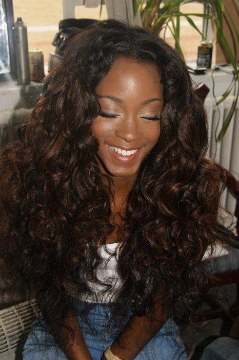 Virgin Peruvian hair. Oh, ok. Haha. It's cute!