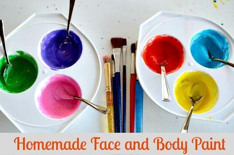 bodypainting farbe selber herstellen