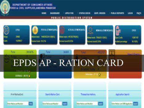 EPDS AP :TNPDS Ration Card: How To apply & Check Status