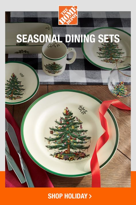As a Christmas gift or to show off in your own home, this festive dinnerware is perfect for making winter memories. Click to shop The Home Depot online to see more styles and set your holiday table.