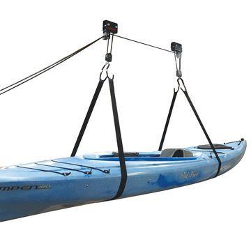 Malone Auto Racks Kayak Hammock Deluxe Hoist System Outdoorplay Com Kayak Storage Kayak Storage Rack Kayak Hoist