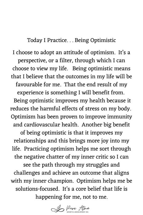 "Have you found that #affirmations don't really work for you? I had the same challenge. Try this #lifestrategy instead; it's called ""I Practice"". Practicing something helps you build #strength and #resilience and long-lasting #mindhabits. This week's life strategy is ""Being Optimistic"". Practice this for a week and let me know how it goes for you. #affirmations #growthmindset #lifestrategies #resilience #positivepsychology #spiritualawakening #selfexpression #feelings #spirituality #o"