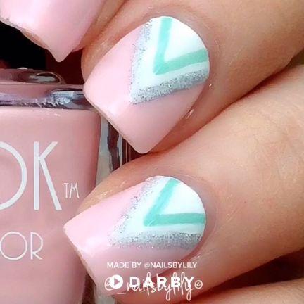 How to do cute pastel chevron nails #darbysmart #beauty #beautytips #beautyhacks #beautytricks #beautytutorial #nailpolish #nailart #naildiy #naildesign #nailtutorial