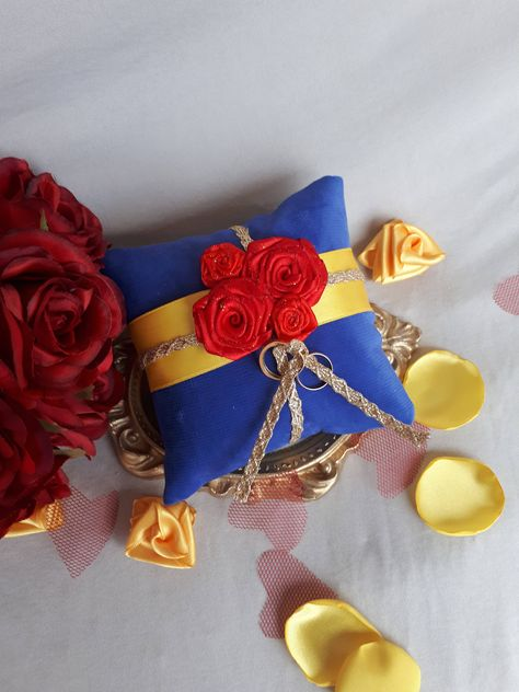 dresses disney engagement rings Beauty and The Beast Wedding Ring Pillow Beauty Wedding Blue Ring Bearer Pillows With Red Roses Ring Bearer Pillow Ring Cushion Pillows Beauty And The Beast Wedding Dresses, Beauty And The Beast Theme, Wedding Beauty, Dream Wedding, Elegant Wedding, Wedding Pillows, Ring Pillow Wedding, Blue Wedding Rings, Diamond Wedding Bands
