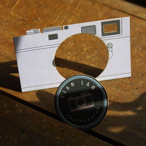 Visitenkarten Gestanzt Photography Business Card Design