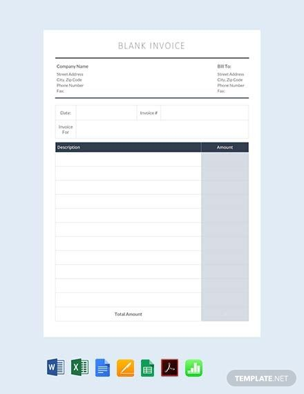 Free Blank Invoice Template Free Pdf Word Excel Apple Pages Google Docs Apple Numbers Invoice Template Invoice Template Word Invoice Design Template