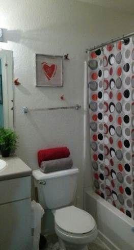 Super Apartment Bathroom Red Ideas Apartment Red Bathroom Decor