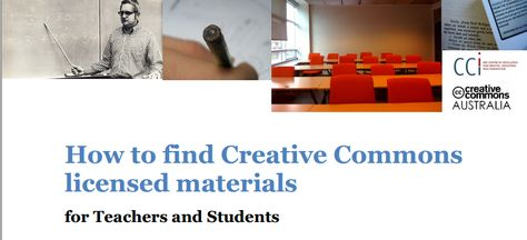 How to find Creative Commons  licensed materials for teachers and students