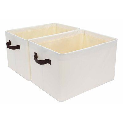 Winston Porter Fabric Bin Size 14 8 H X 10 2 W X 8 3 D In 2020 Storage Bins Fabric Storage Bins Collapsible Storage Bins