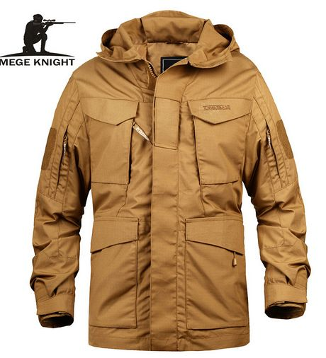Buy Mege Brand Men Tactical Clothing US Army Military Field Jacket Trench Coats Hoodie Casaco Masculino Windbreaker Men Autumn Cool Jackets For Men, Mens Outdoor Jackets, Types Of Jackets, Tactical Wear, Tactical Clothing, Male Clothing, Tactical Jacket, Apparel Clothing, M65 Jacket