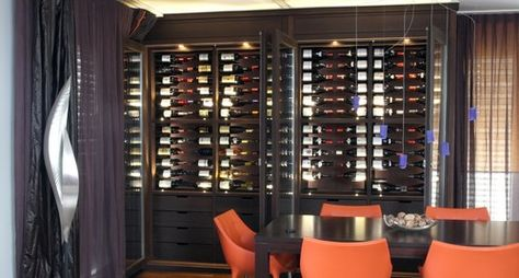 Custom Wine Cabinet - Wenge - modern - wine cellar - other metro - Degre 12 - Custom Wine Cellars