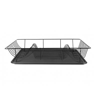 Kitchen Wire Dish Rack And Drip Tray Matte Black Hanging Drying Rack Wall Mounted Clothes Dryer